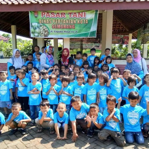 Keseruan Outbound anak TK PGRI Semarang