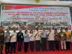 Dinas Pertanian Kota Semarang Melaksanakan Perjanjian Kerjasama Dengan Lembaga Permasyarakatan Kelas I Semarang