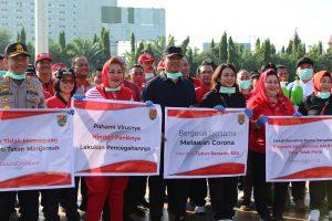 Upaya Pencegahan Covid-19, Pemkot Semarang Mengadakan Penyemprotan Disinfektan Serentak Di Jalan-jalan Protokol